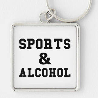 Sports And Alcohol Keychain