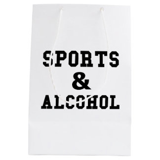 Sports And Alcohol Medium Gift Bag