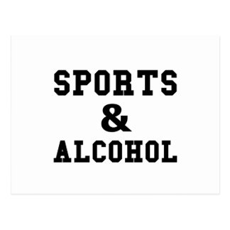 Sports And Alcohol Postcard