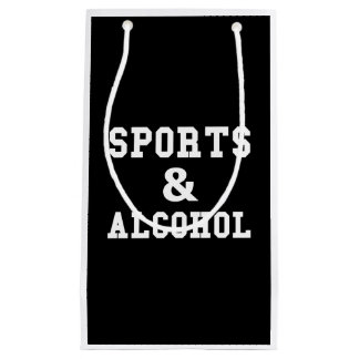 Sports And Alcohol Small Gift Bag