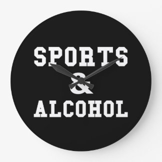 Sports And Alcohol Wallclock