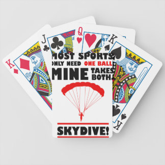 sports and skydive, Mine takes both Bicycle Playing Cards