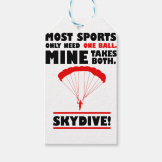sports and skydive, Mine takes both Pack Of Gift Tags