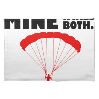 sports and skydive, Mine takes both Placemat
