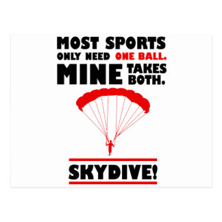 sports and skydive, Mine takes both Postcard