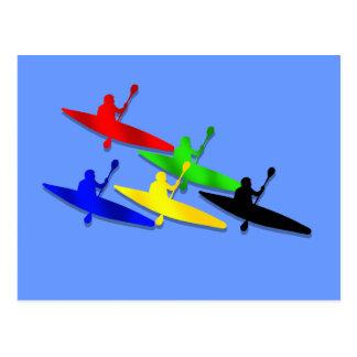Sports aquatiques de kyak de canoë de Kyaking de Carte Postale