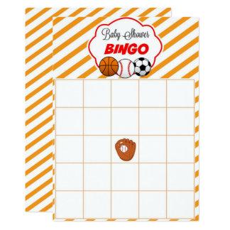 Sports Baby Shower Blank Gift Baby Bingo Cards