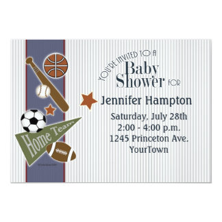 Sports Baby Shower Card