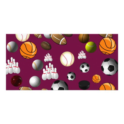 Sports Ball Bookmark Photo Greeting Card