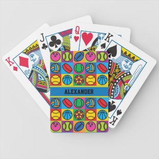 Sports Ball Checkerboard Bicycle Playing Cards