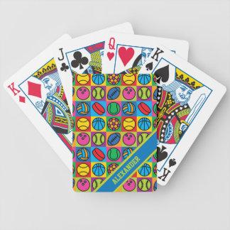 Sports Ball Checkerboard Poker Deck