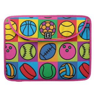 Sports Ball Icons MacBook Pro Sleeve