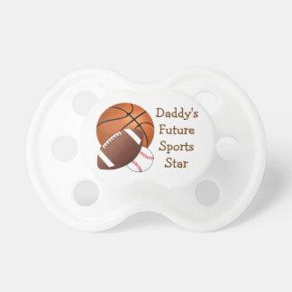 Sports Balls Basketball Football Baseball Daddy's Pacifier