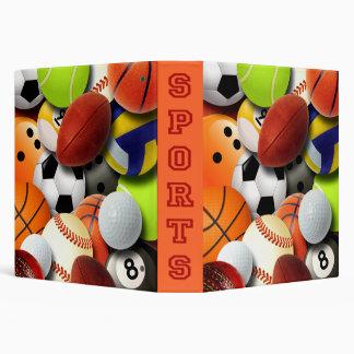 Sports Balls Collage Vinyl Binder