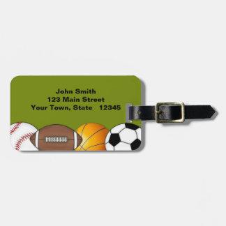 Sports Balls Luggage Tag