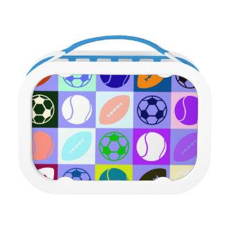 Sports Balls Pattern Lunch Box