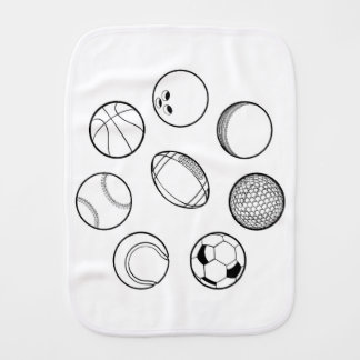 Sports Balls Set Burp Cloth