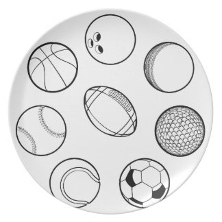 Sports Balls Set Plate