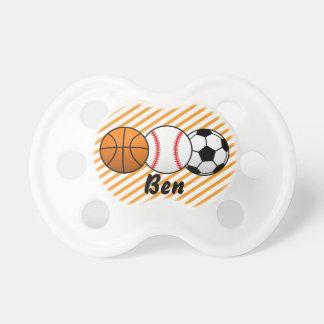 Sports Basketball, Baseball, Soccer Baby Pacifier