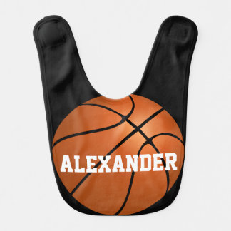 Sports Basketball Personalized Custom Boy's Bib