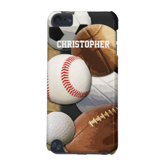 Sports Basketball/Soccer/Football Personalized iPod Touch (5th Generation) Cover
