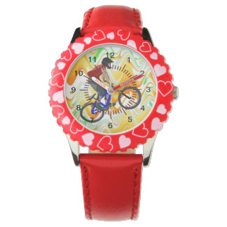 Sports Bike Bmx Team Coach Peace Love Destiny Wristwatches