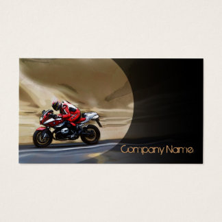Sports Bike In The Motion Business Card