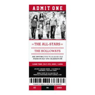 Sports billet invitations du 4 juillet