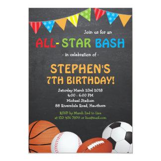 Sports Birthday Invitation / Sports Invitation