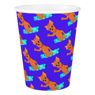 Sports Birthday Party Items - Happy Snowboarding Paper Cup