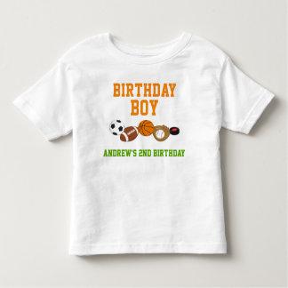 Sports Birthday T-shirt Toddler Kid Child