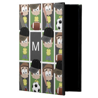 Sports Boy with Monogram iPad Air Case