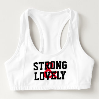 """Sports bra """"STRONG AND LOVELY """""""""""