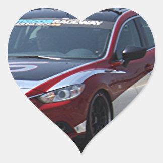 Sports Car Auto Racing Heart Sticker