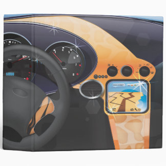 Sports Car Dashboard Vinyl Binder