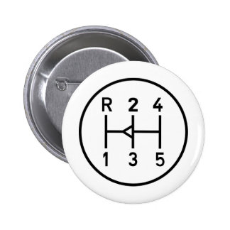 Sports car gear knob, transmission shift pattern 2 inch round button