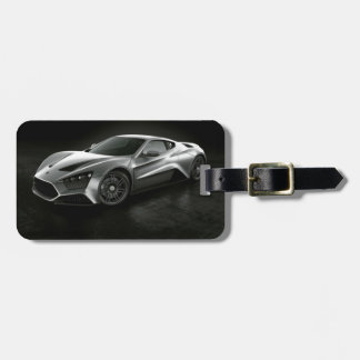 Sports Car Luggage Tag