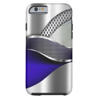 Sports Car Metallic Silver Mesh blue iPhone 6 Case