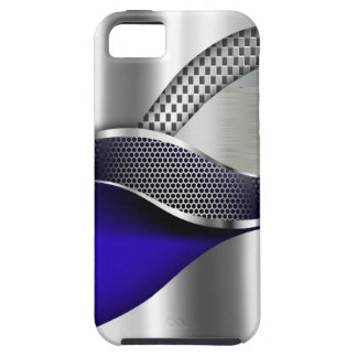 Sports Car Metallic Silver Mesh blue iPhone 5 Cover