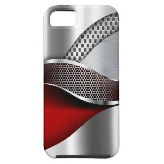 Sports Car Metallic Silver Mesh red iPhone 5 Covers