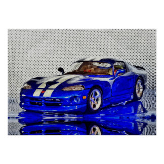Sports car - Photoworks Jean Louis Glineur Poster