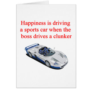 Sports Car T-shirts Hats Postage and Gifts Greeting Card