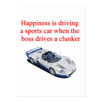 Sports Car T-shirts Hats Postage and Gifts Postcard