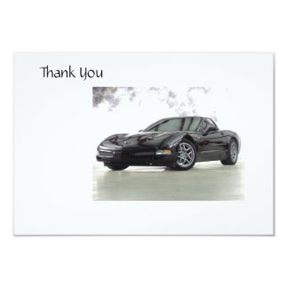 Sports Car Thank you Card
