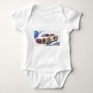 sports cars machine baby bodysuit