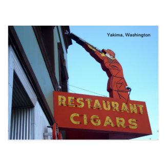 Sports Center Sign- Yakima, Washington Postcard