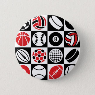 Sports Checkerboard 2 Inch Round Button
