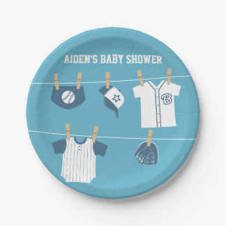 Sports Clothes Baseball Baby Shower Supplies Paper Plate