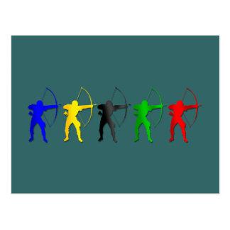 Sports d'Archer de jeux   d'été de tir à l'arc Carte Postale