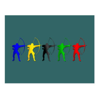 Sports d'Archer de jeux   d'été de tir à l'arc Cartes Postales